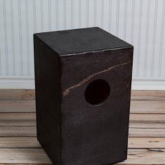 A look at the carefully planned hole in a Cajon Drum