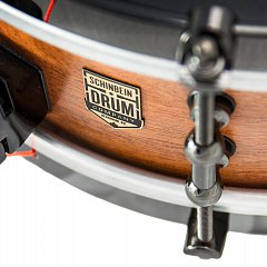 Close-up of a modified custom snare drum
