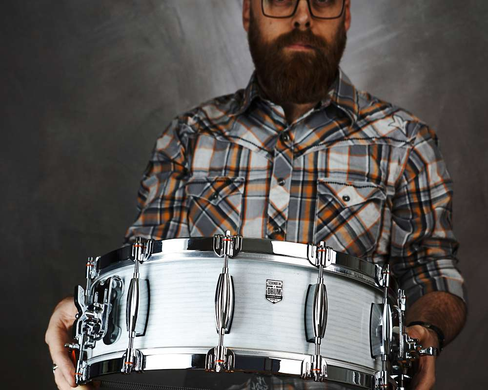"""The Butcher"" - a 16"" snare drum built by Schinbein Drum Company"